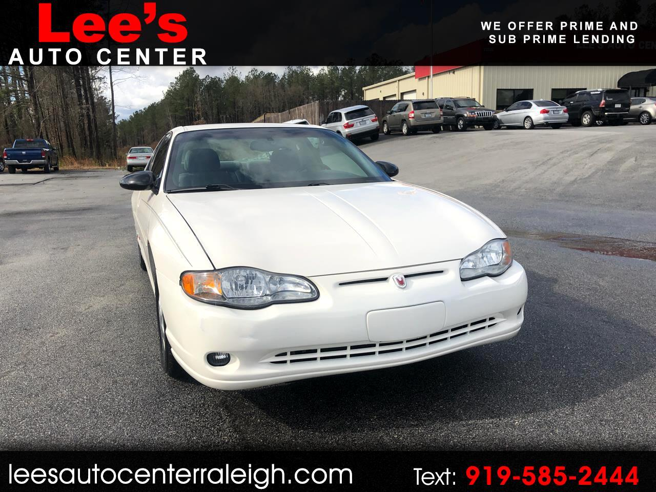 2001 Chevrolet Monte Carlo 2dr Cpe SS