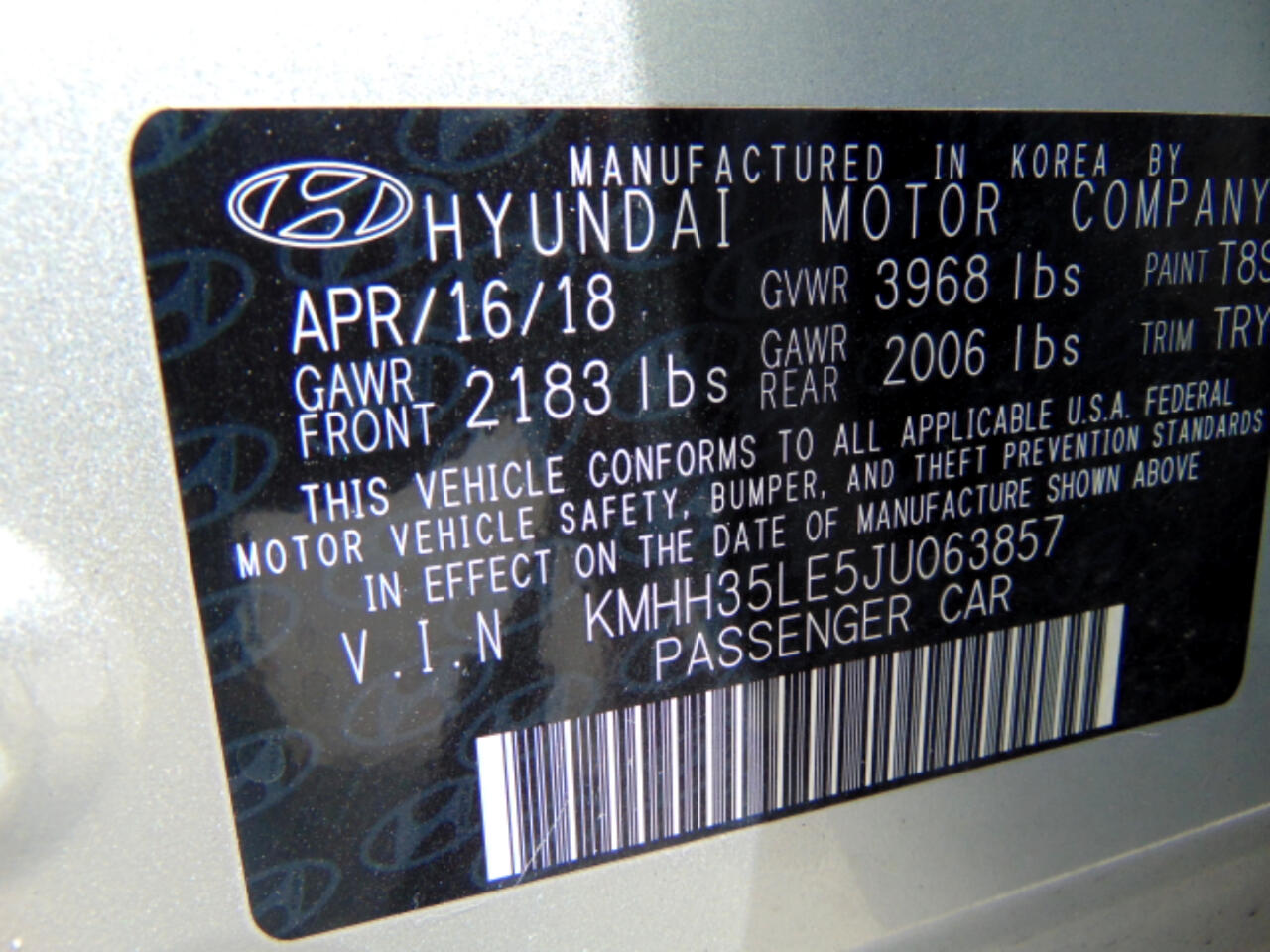 2017 Hyundai Elantra GT Auto