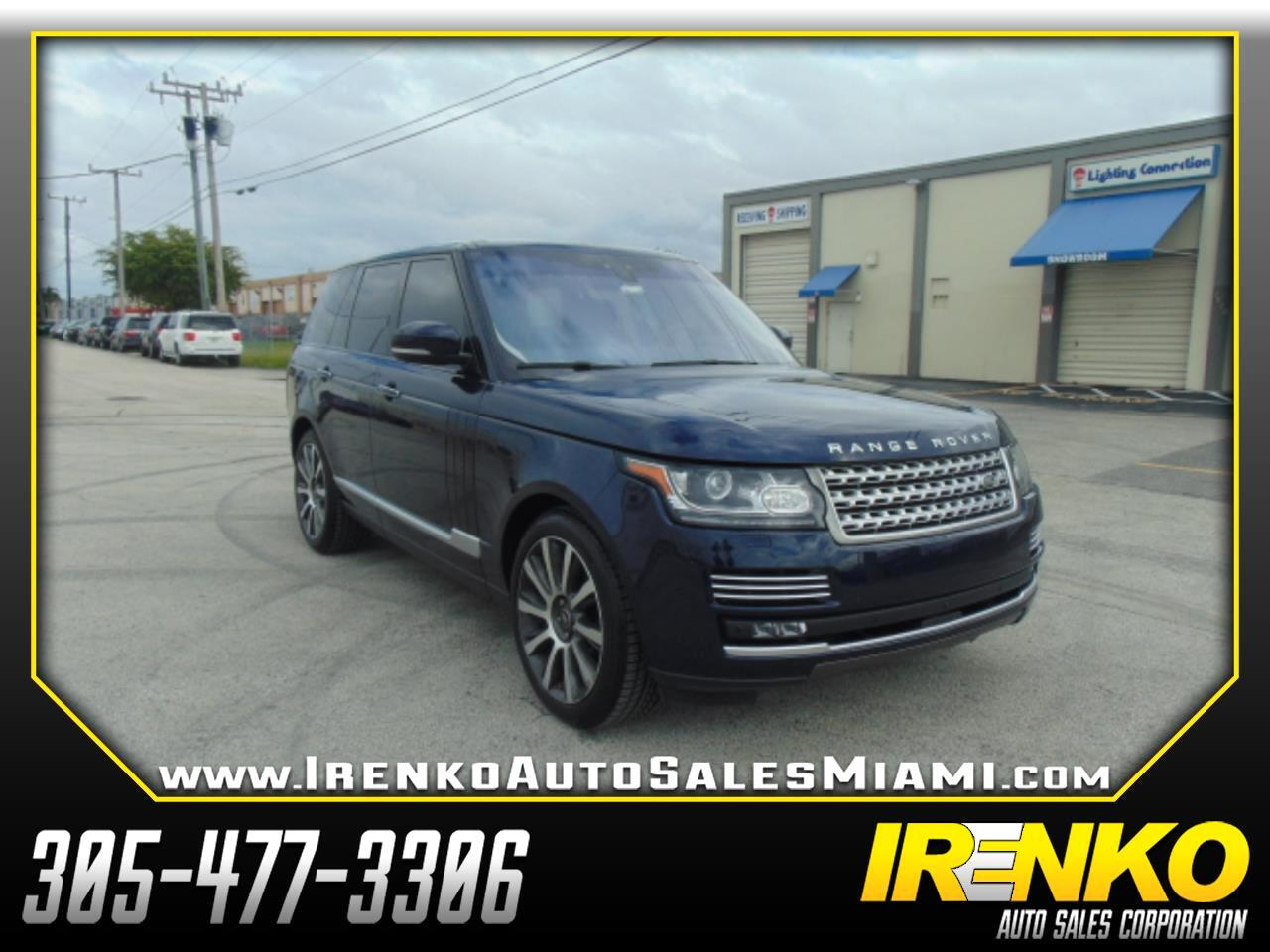 Land Rover Range Rover V8 Supercharged Autobiography SWB 2017