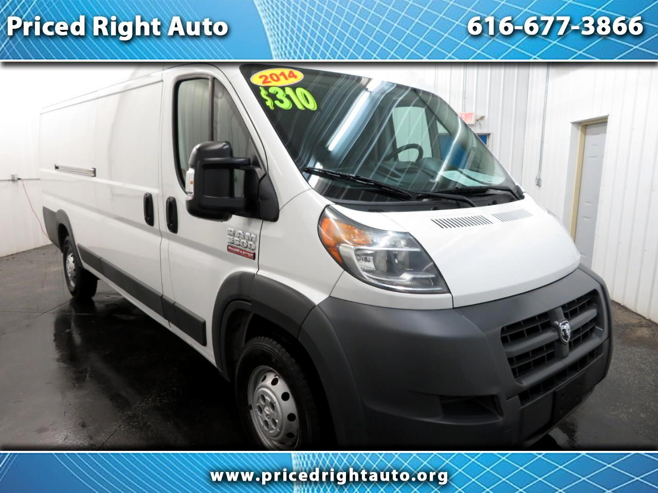 "2014 RAM ProMaster Cargo Van 3500 Extended High Roof 159"" WB"