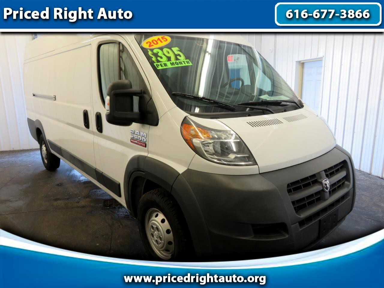 2015 RAM ProMaster Cargo Van 3500 Extended High Roof 159