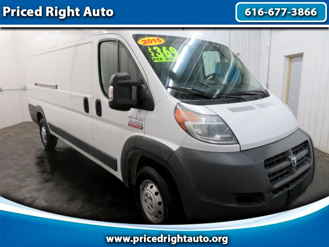 """2015 RAM ProMaster Cargo Van 3500 Extended High Roof 159"""" WB"""