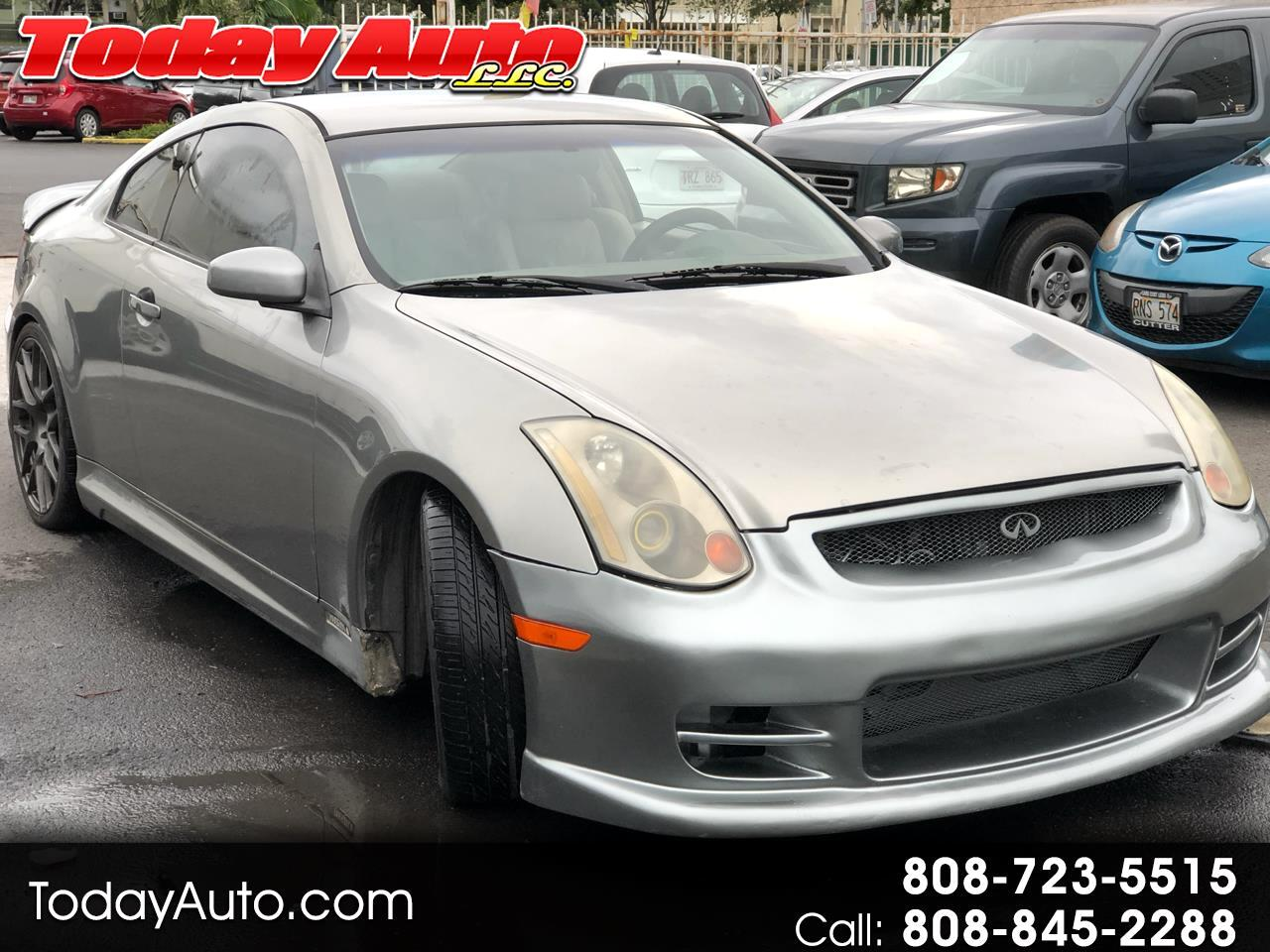 Infiniti G35 Coupe 2dr Cpe Manual w/Leather 2004