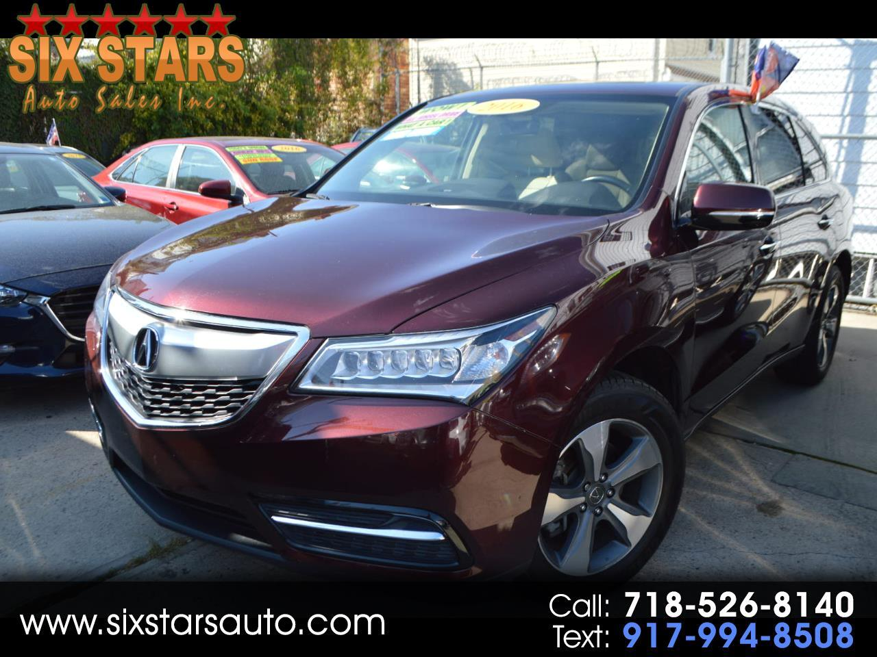 Acura MDX SH-AWD 9-Spd AT 2016