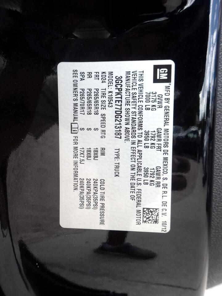 2013 Chevrolet Silverado 1500 LTZ Crew Cab 4WD