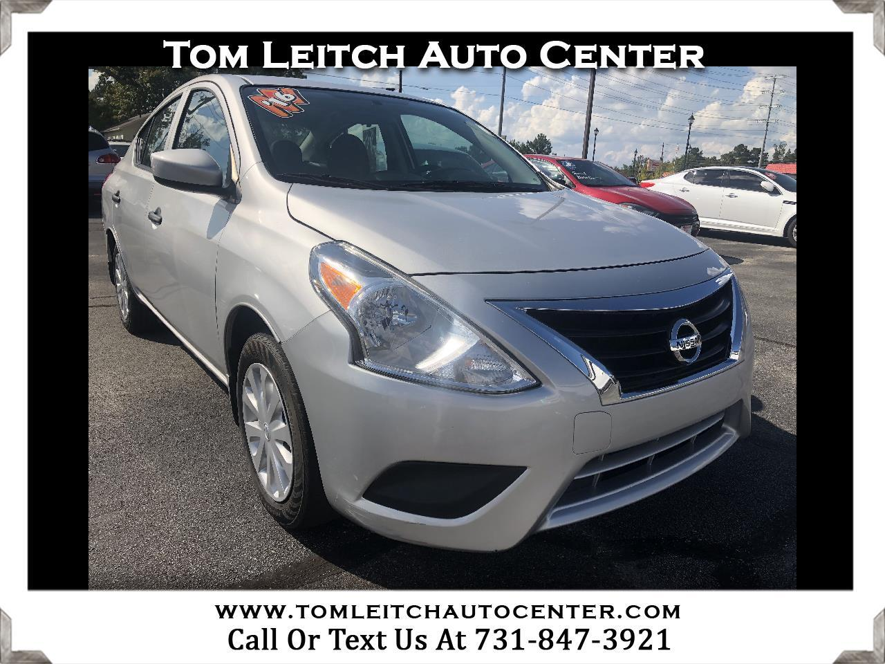 used 2016 nissan versa 4dr sdn cvt 1 6 s plus for sale in parsons tn 38363 tom leitch auto center. Black Bedroom Furniture Sets. Home Design Ideas