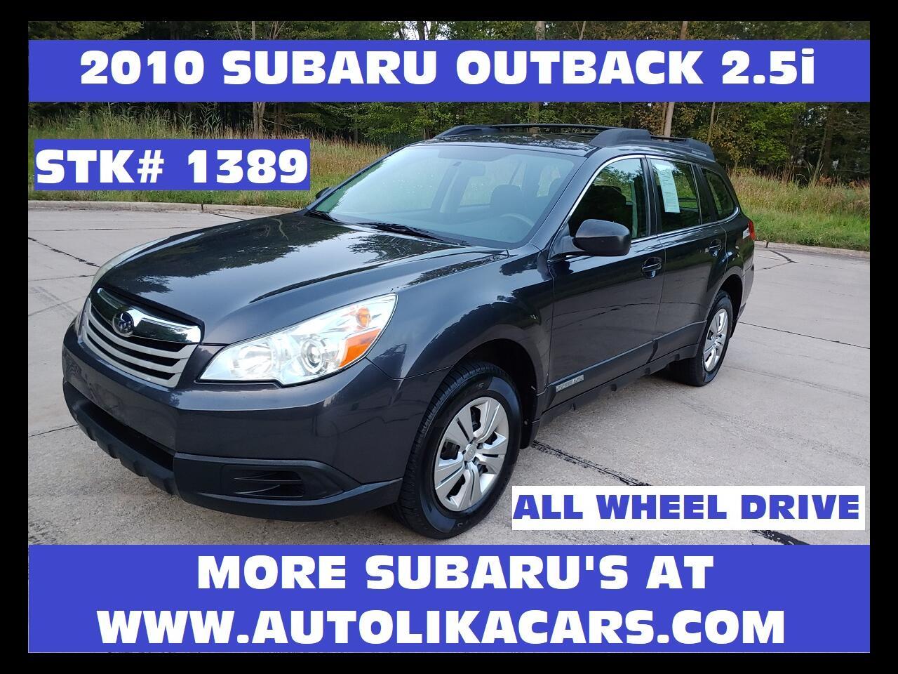 2010 Subaru Outback 4dr Wgn H4 Auto 2.5i