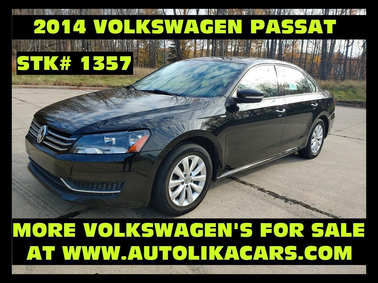 Volkswagen Passat 4dr Sdn 1.8T Auto Wolfsburg Ed PZEV 2014