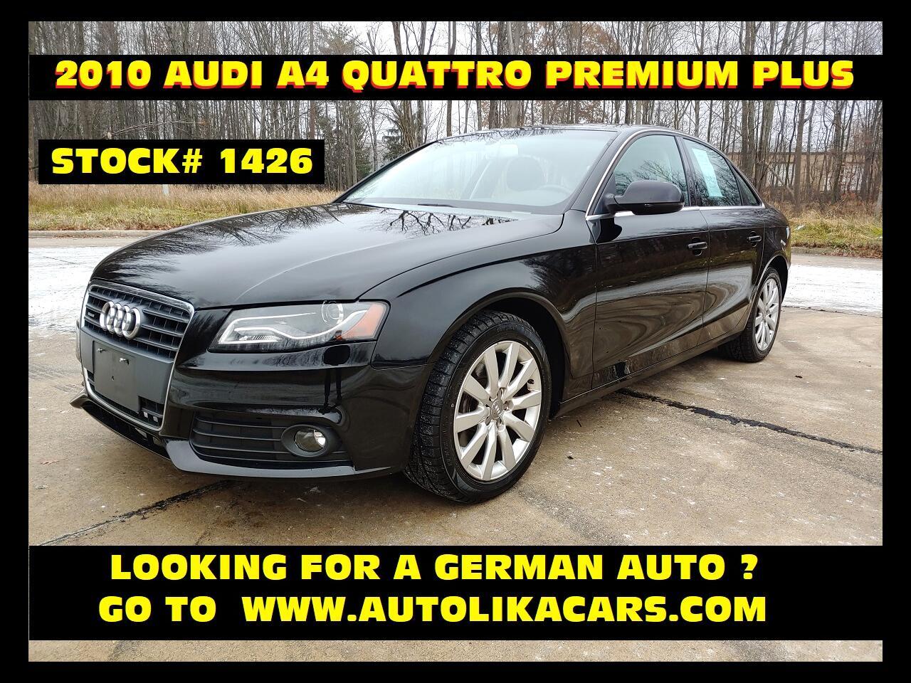 Audi A4 4dr Sdn Auto quattro 2.0T Premium  Plus 2010