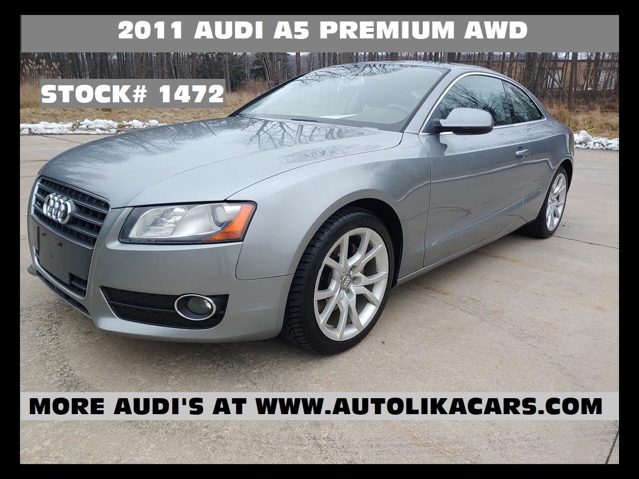 Audi A5 2dr Cpe Auto quattro 2.0T Premium 2011
