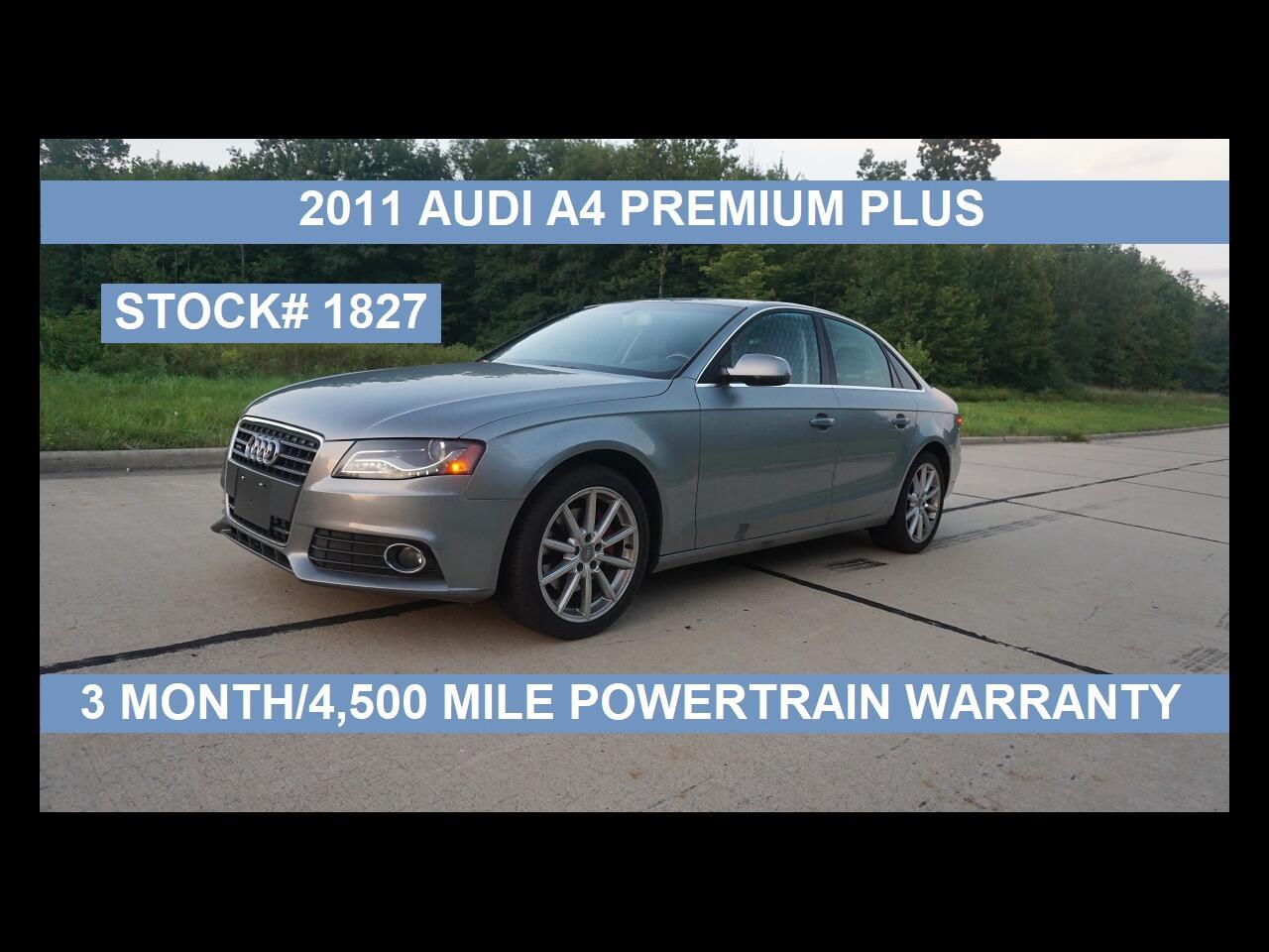 Audi A4 4dr Sdn Auto quattro 2.0T Premium  Plus 2011