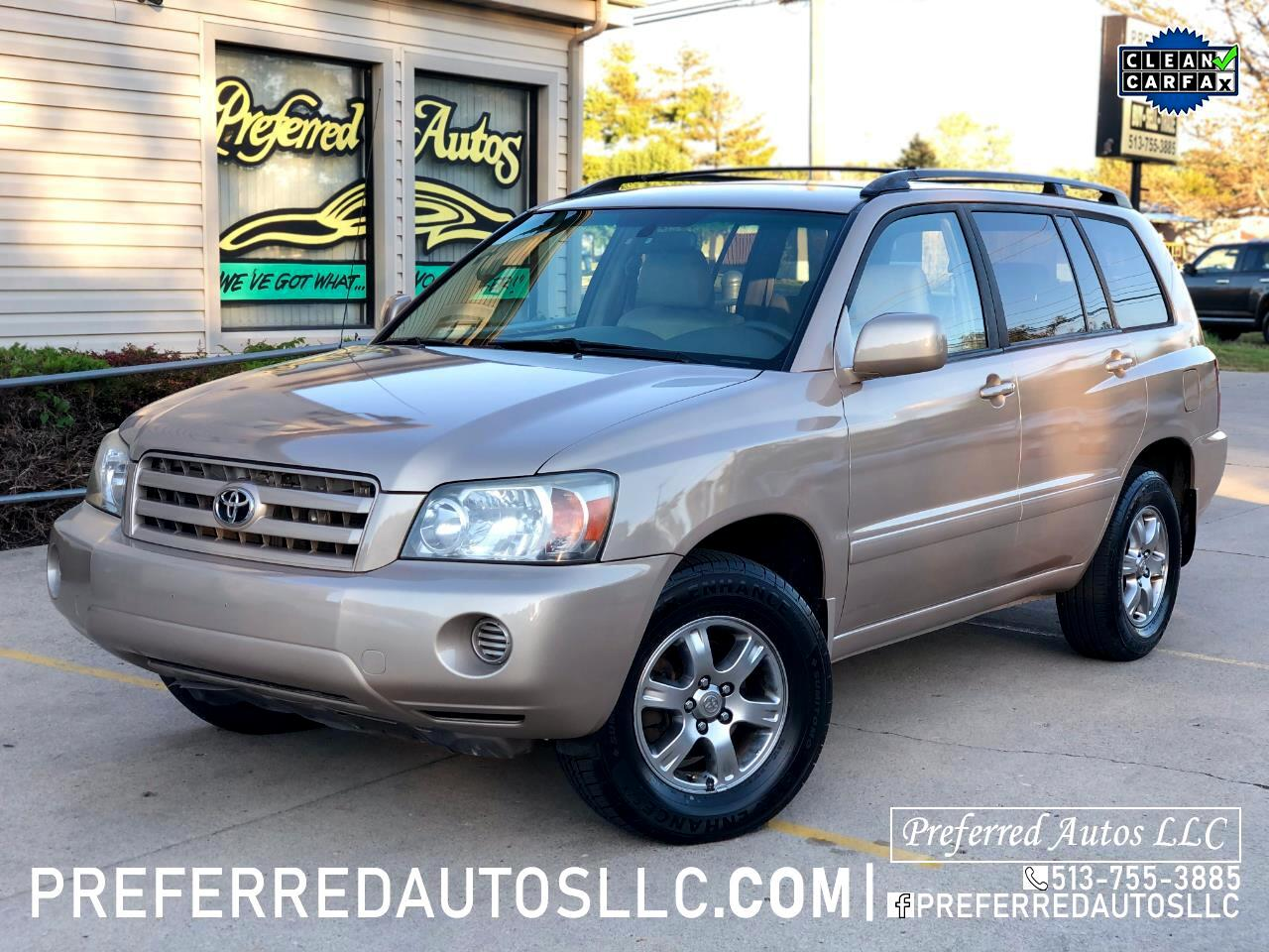 Toyota Highlander V6 4WD with Third Row Seat 2006