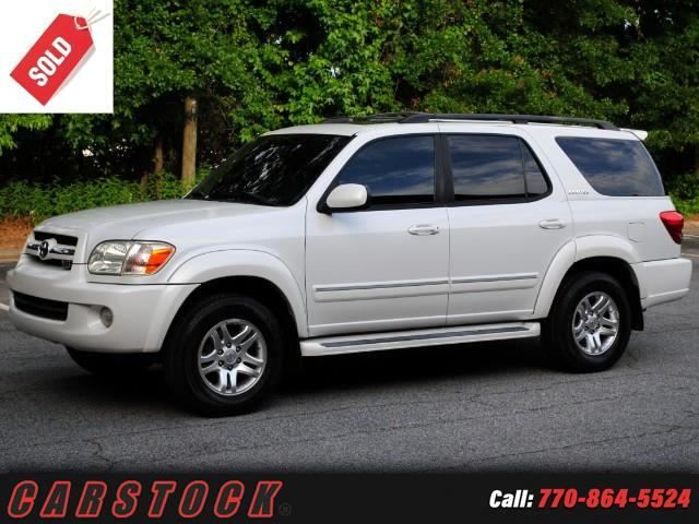 2006 Toyota Sequoia Limited w Navigation Captain Chairs
