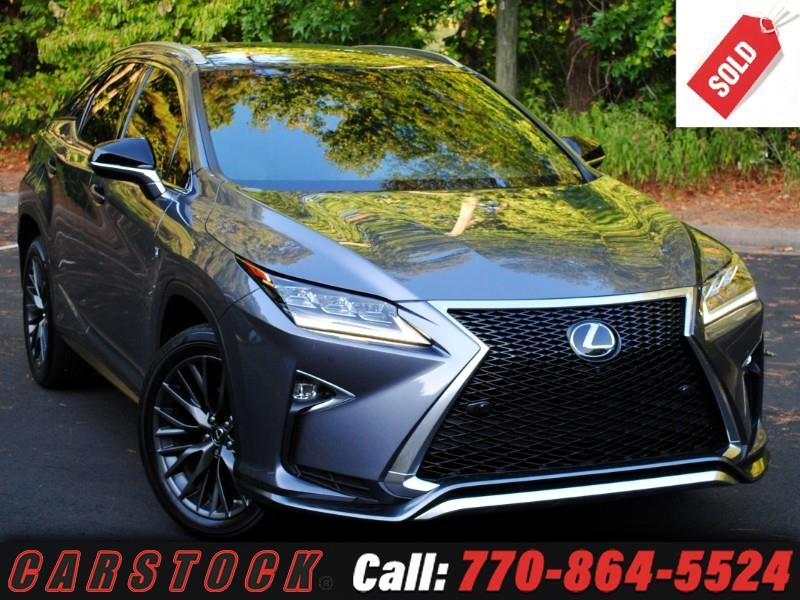 2017 Lexus RX 350 AWD F Sport Safety+ w/ Nav Mark Lev Pano Roof 360