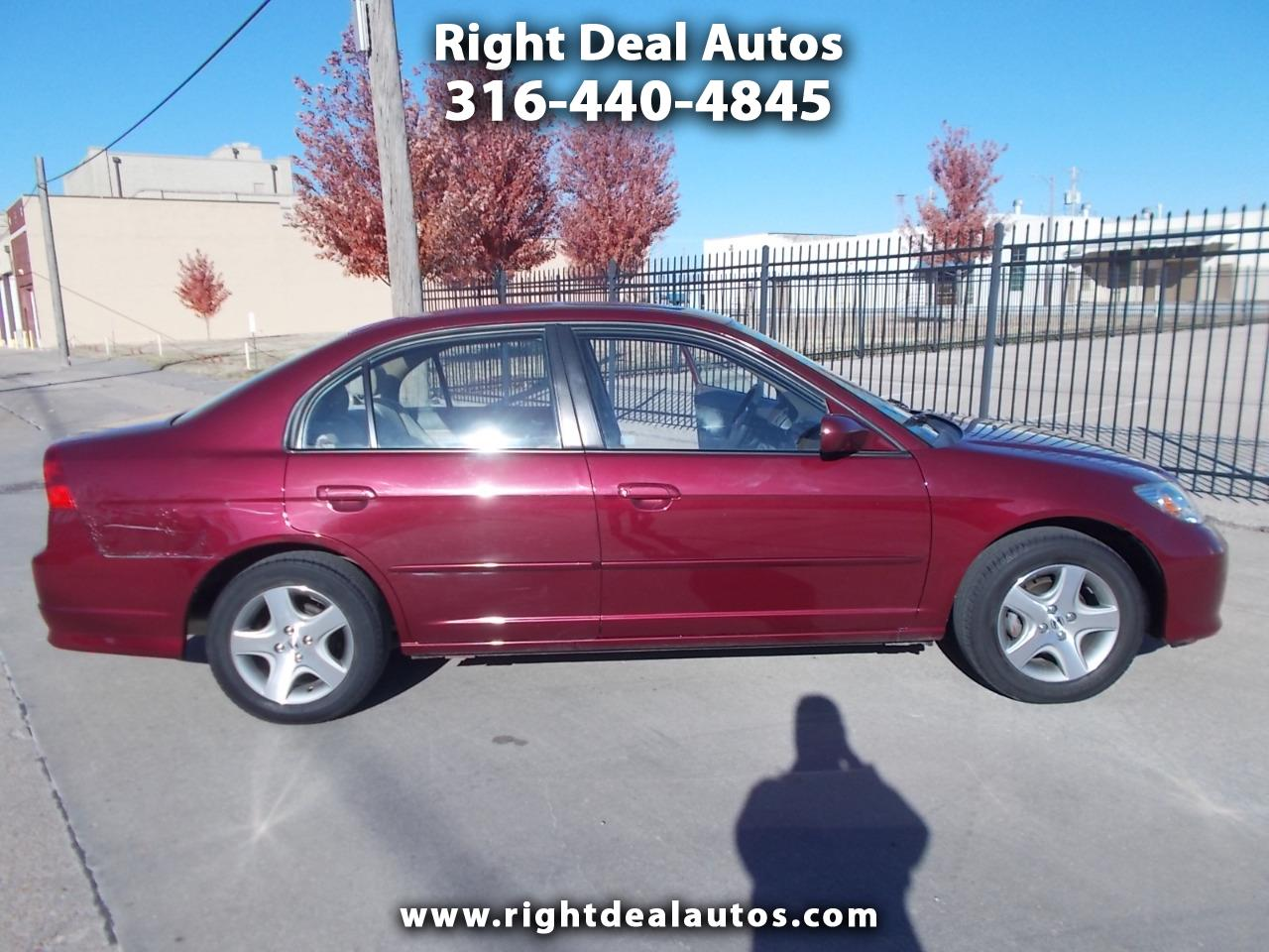 Honda Civic EX Sedan AT with Front Side Airbags 2004
