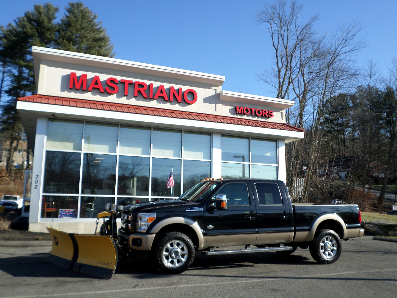 2013 Ford Super Duty F-350 SRW KING RANCH POWERSTROKE DIESEL XTREME-V FISHER PLOW