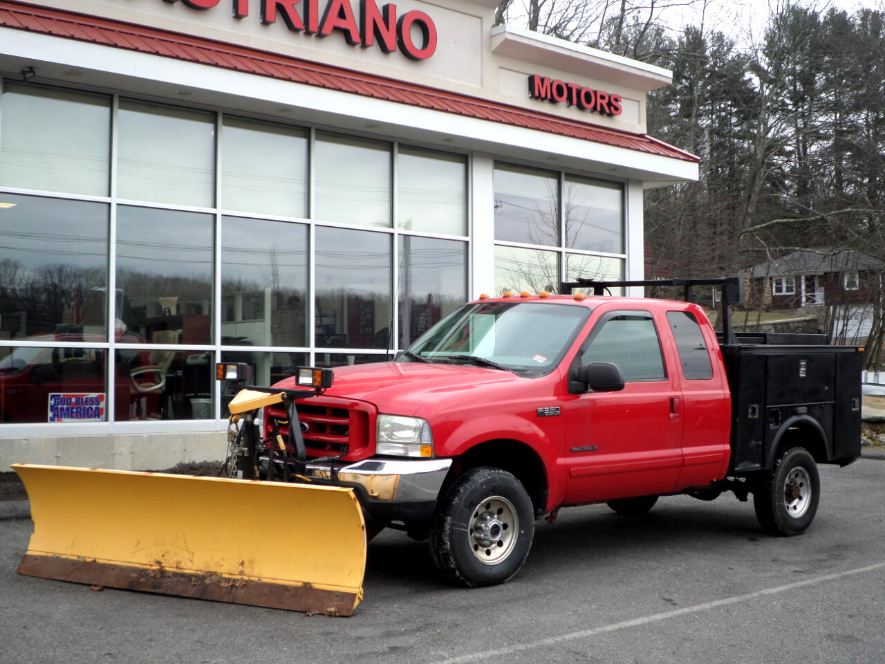 2003 Ford Super Duty F-350 SRW 7.3 POWERSTROKE DIESEL WITH FISHER MM2 PLOW