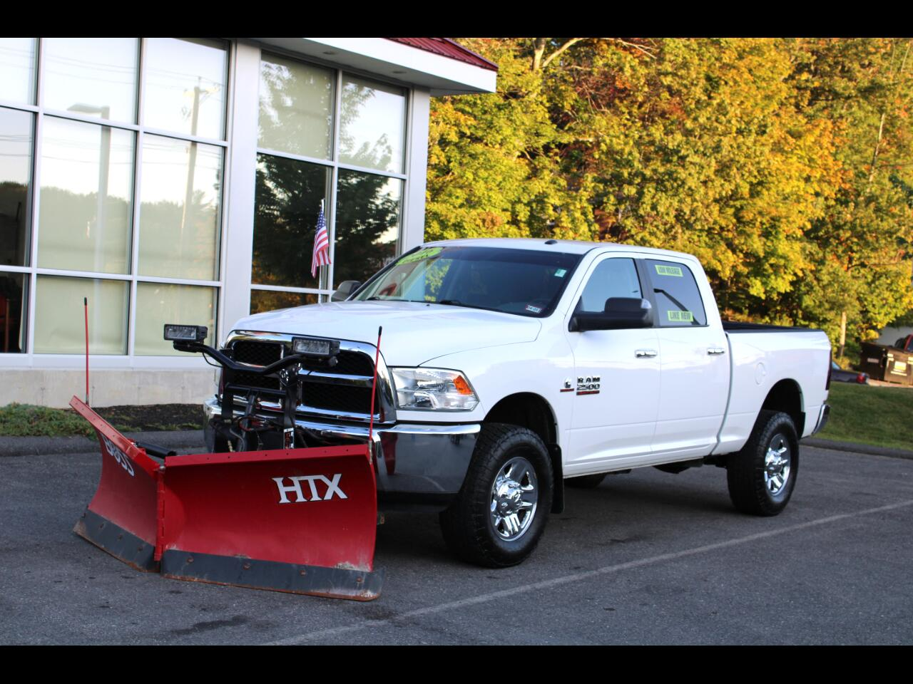 2016 RAM 2500 CUMMINS DIESEL CREW CAB LOW MILES WITH BOSS V-PLOW