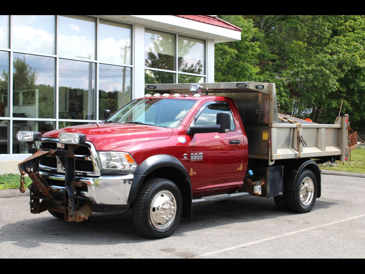 2014 RAM 5500 4WD SLT ALUMINUM DUMP WITH 10FT PLOW