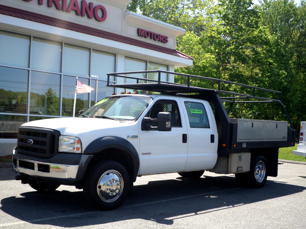 2006 Ford F-450 SD Crew Cab POWERSTROKE DIESEL FLAT BED