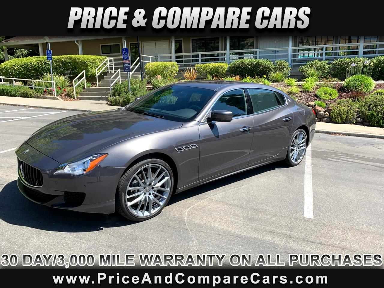 2016 Maserati Quattroporte 4 DR SEDAN QUATTROPORTE S 404 HP OVER 110K NEW