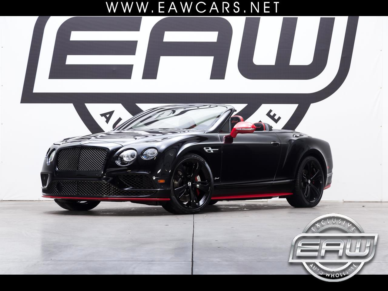 2017 Bentley Continental GTC SPEED BLACK EDITION WITH ST JAMES RED ACCENT