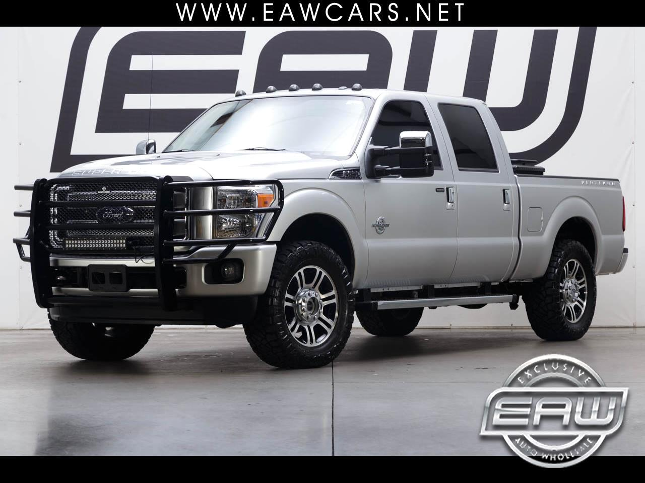 2016 Ford Super Duty F-250 SRW CREW CAB PLATINUM 4WD