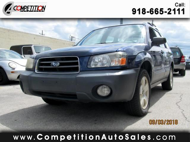 used 2005 subaru forester 2 5 x for sale in tulsa ok 74145 competition auto sales. Black Bedroom Furniture Sets. Home Design Ideas