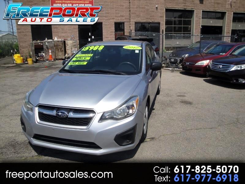 Subaru Impreza Base 4-Door 2012
