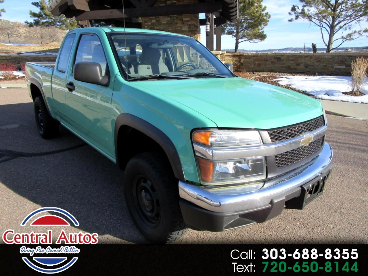 "2008 Chevrolet Colorado 4WD Ext Cab 125.9"" Work Truck"