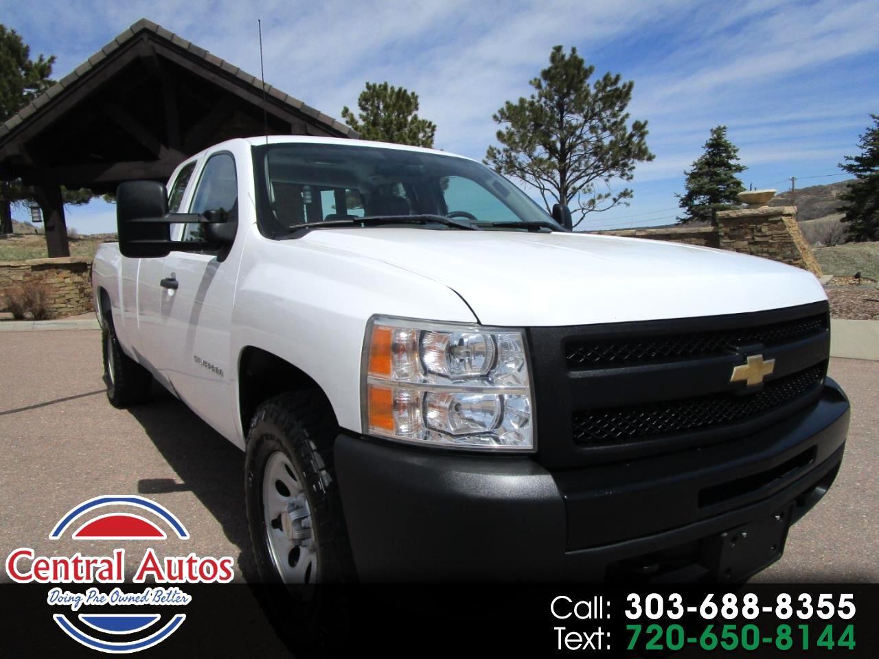 """2011 Chevrolet Silverado 1500 4WD Ext Cab 157.5"""" Work Truck"""