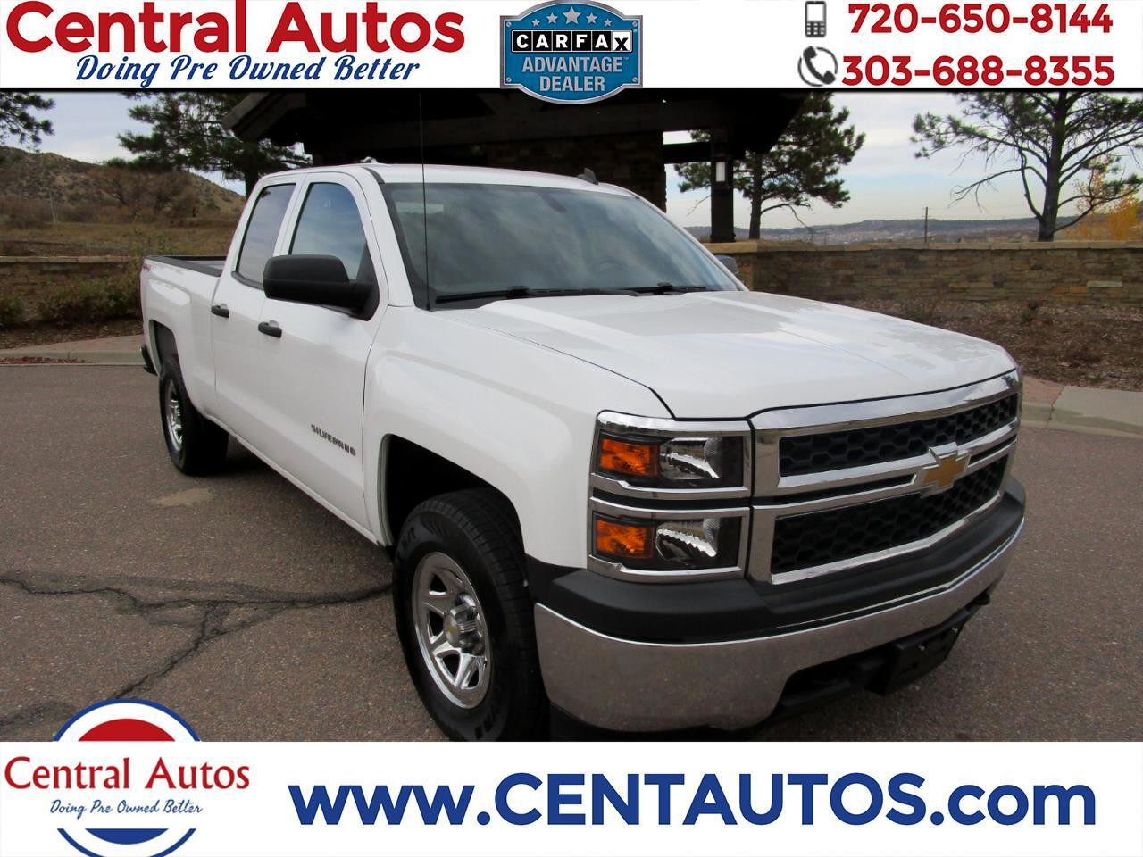 "Chevrolet Silverado 1500 4WD Double Cab 143.5"" Work Truck w/2WT 2014"