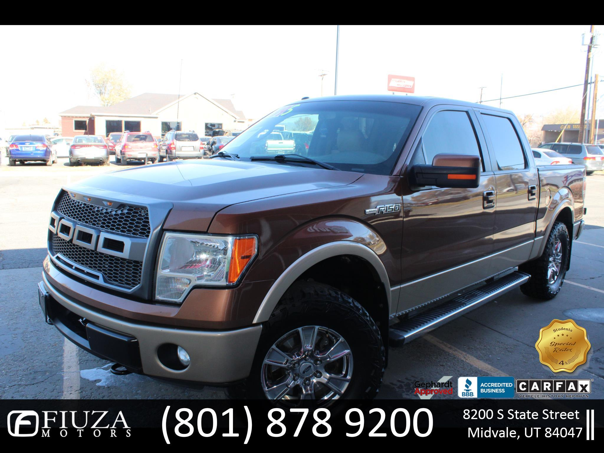 "2011 Ford F-150 4WD SuperCab 163"" Lariat"