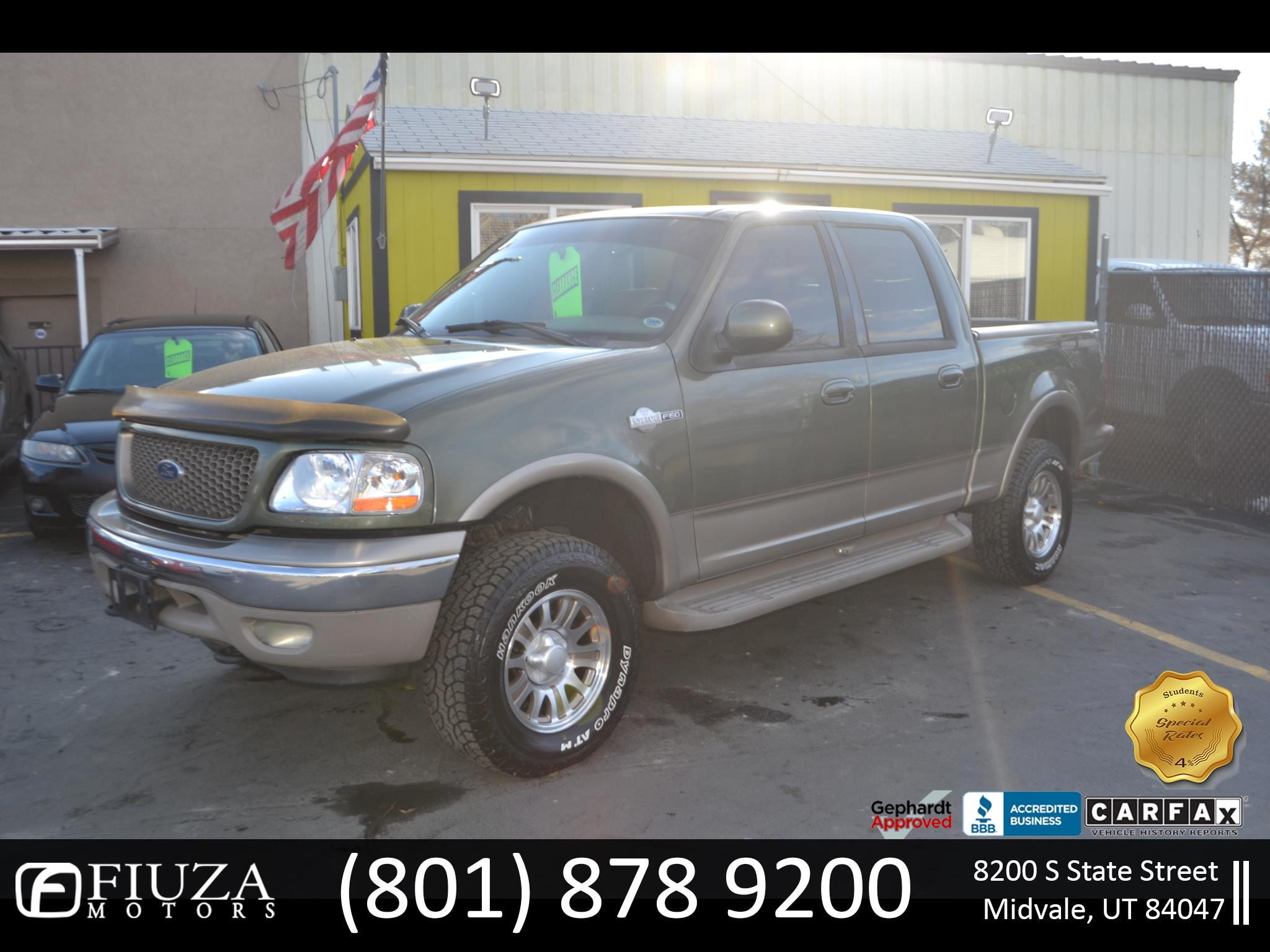 Ford F-150 King Ranch SuperCrew 4WD 2001
