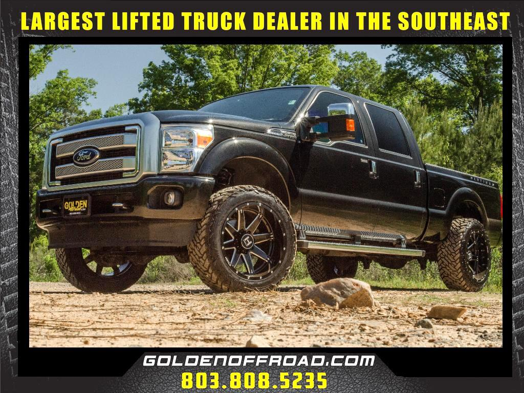 2015 Ford F-250 SD Platinum Super Crew 4WD Leveled Hostile Fuel