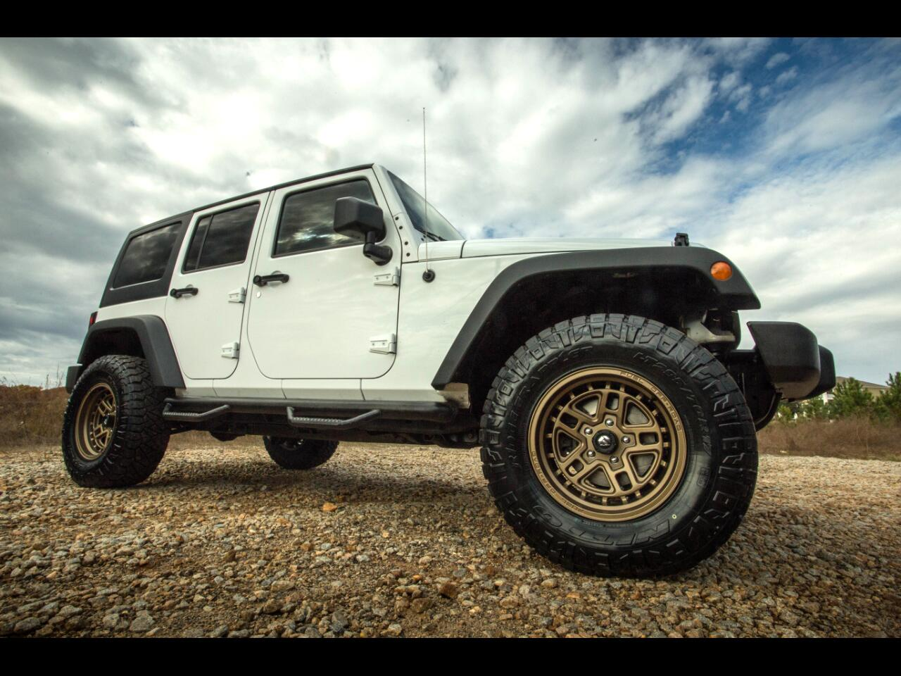 2013 Jeep Wrangler Unlimited 4wd Sport Unlimited Lifted Wheels Tires Hard Top