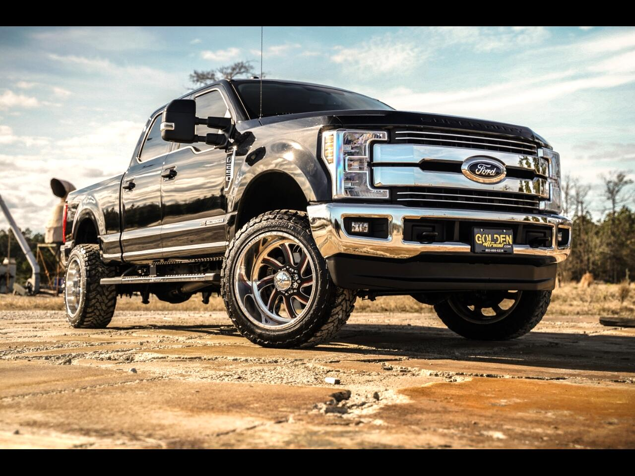 2018 Ford Super Duty F-250 SRW 4wd Crew Cab Lariat, Lifted, American Force Facepl