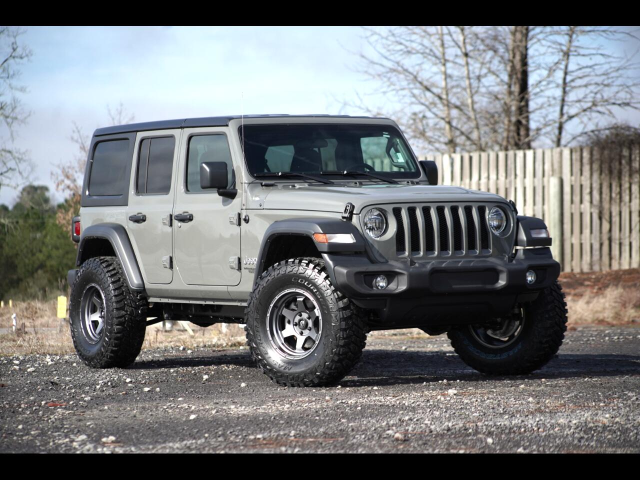2018 Jeep Wrangler Unlimited Sting Ray Grey Rare Color JL Lifted Hard Top 4wd V