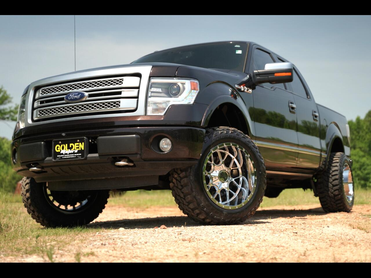 2014 Ford F-150 4wd Platium Super Crew Loaded Lifted 5.0! Hurry!