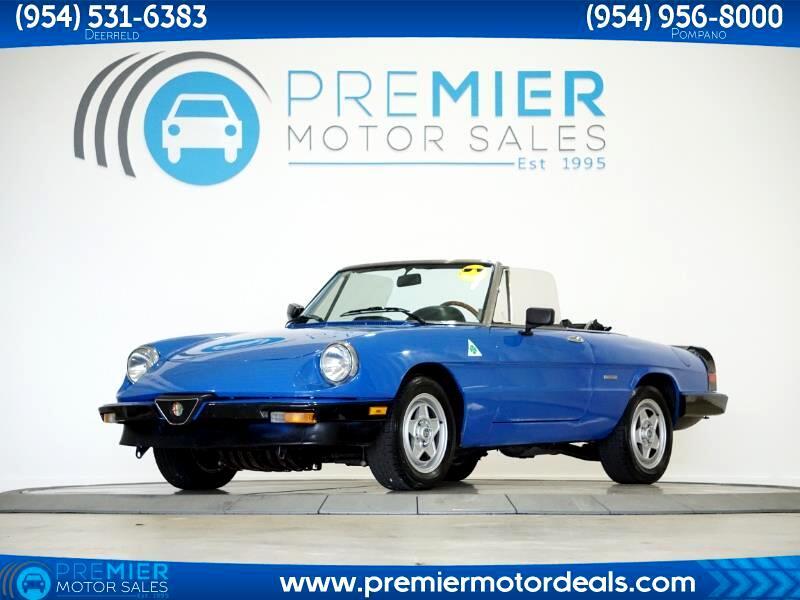 Alfa Romeo Spider Veloce convertible 1986