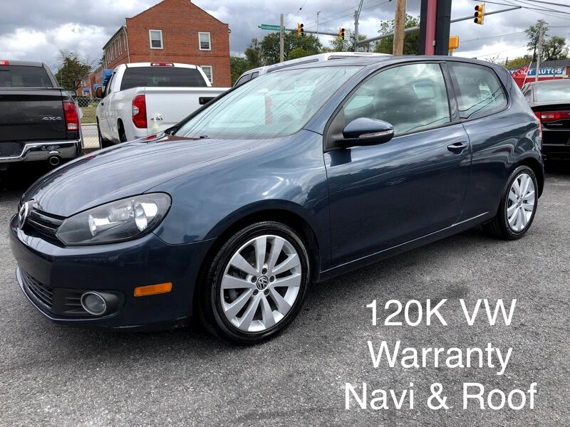2012 Volkswagen Golf 2dr HB Man TDI w/Sunroof & Nav