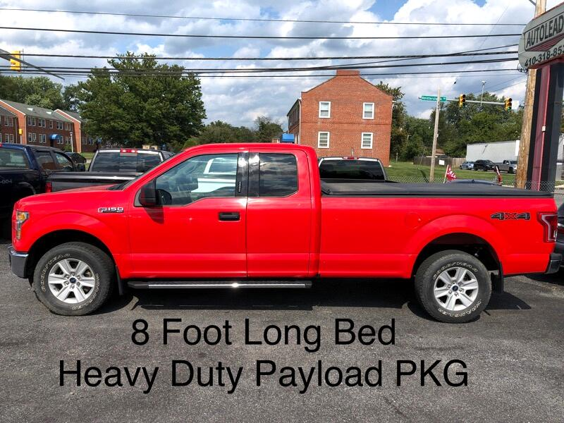 2016 Ford F-150 4WD SUPERCAB XLT 8'BOX WITH HEAVY DUTY PAYLOAD PKG