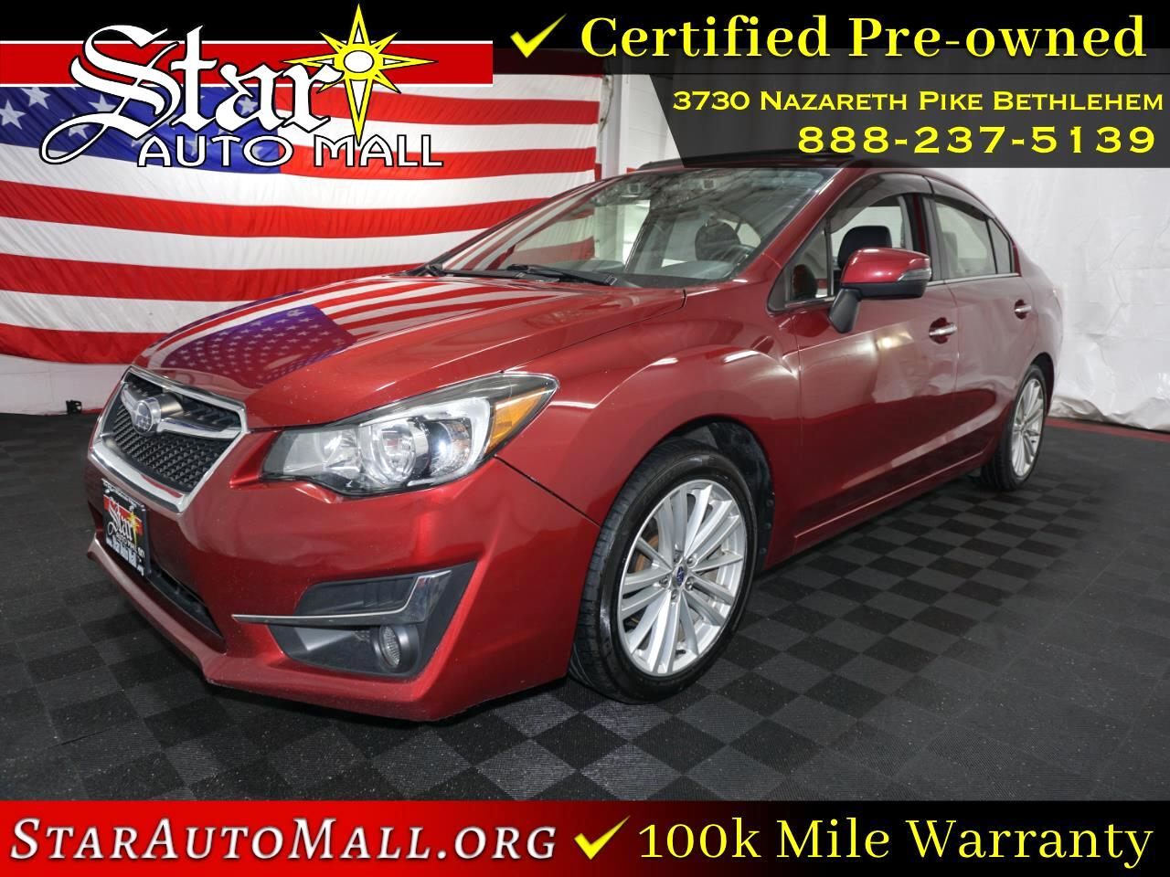 2016 Subaru Impreza 2.0i Limited 4-door CVT