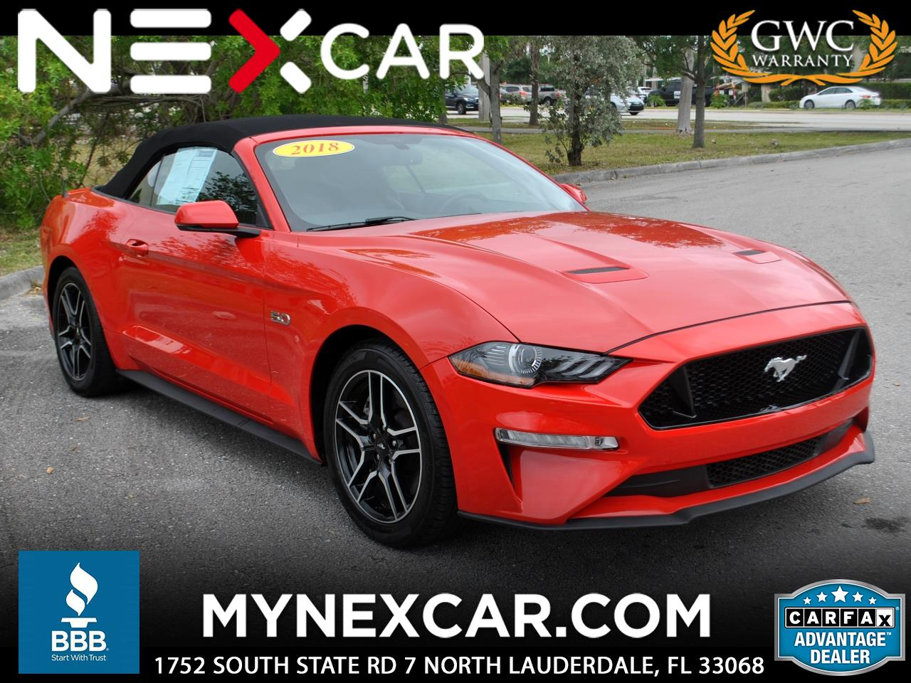 2018 Ford Mustang GT Premium Convertible