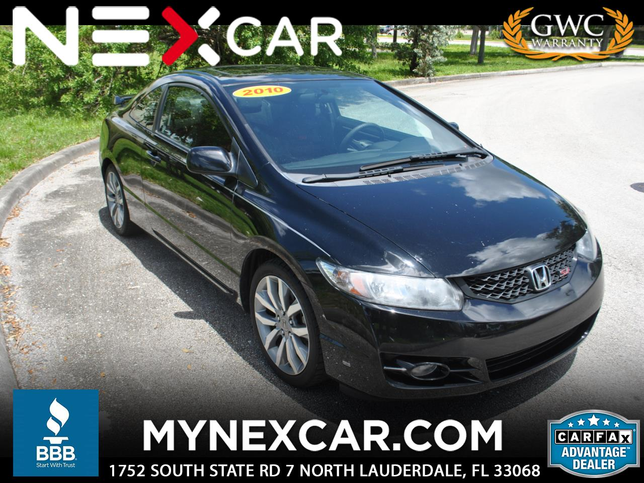 2010 Honda Civic Cpe 2dr Man Si