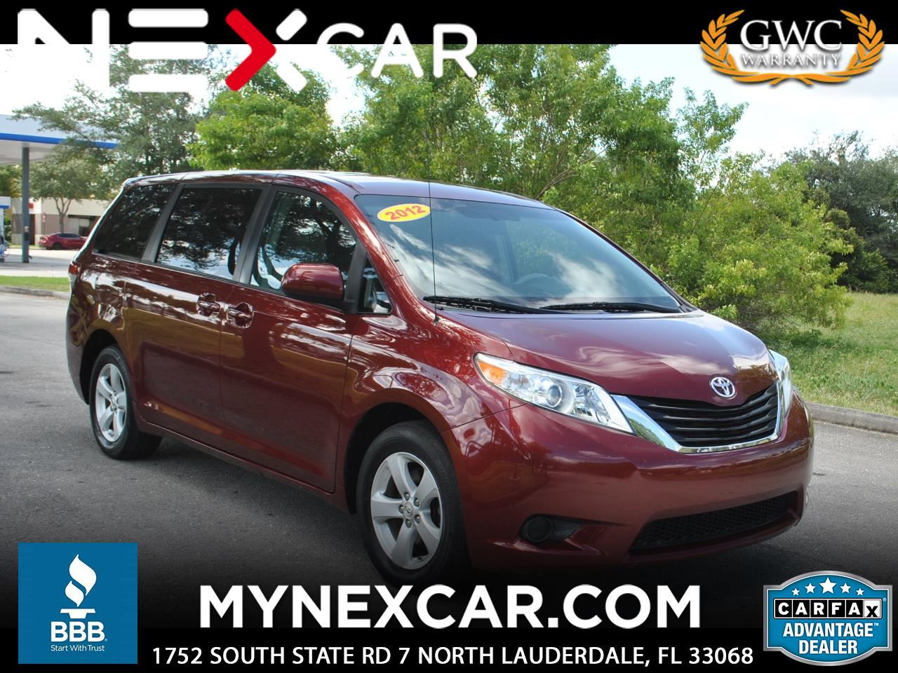 2012 Toyota Sienna 5dr 8-Pass Van I4 LE FWD (Natl)