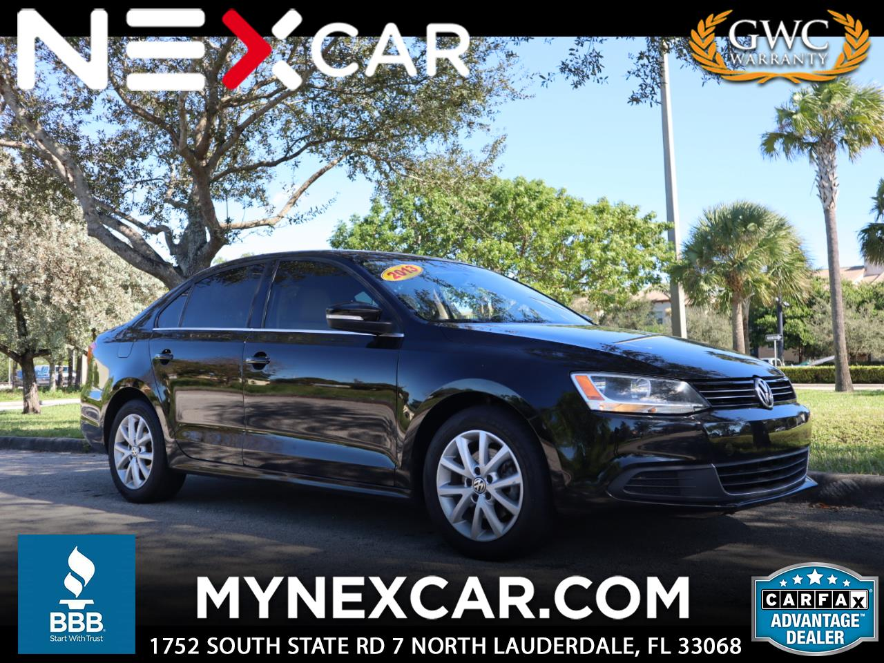 2013 Volkswagen Jetta Sedan 4dr Auto SE w/Convenience/Sunroof PZEV *Ltd Avail*