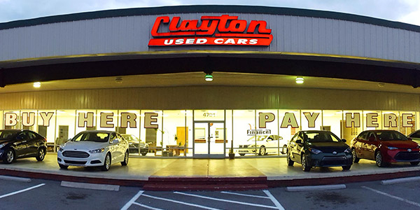clayton used cars lot