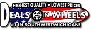 Louie Dominion's Deals on Wheels Dowagiac Logo