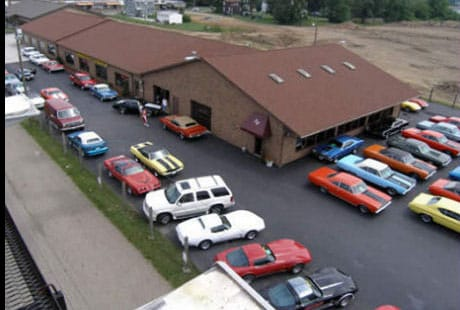 An aerial view of our Whipple Avenue dealership